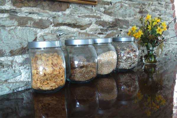 the breakfast cereals at our b&b